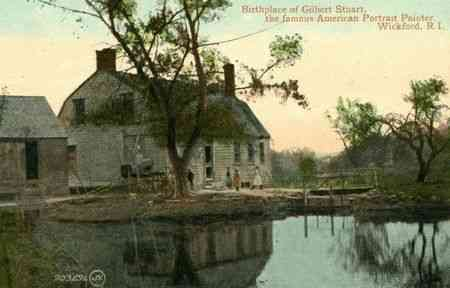North Kingstown, Rhode Island, USA (North Kingston) (Wickford) (Davisville) - Birthplace of Gilbert Stuart, the famous American Portrait Painter, Wickford, R.I.