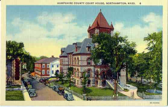 Northampton, Massachusetts, USA  - Hampshire County Court House, Northampton, Mass.