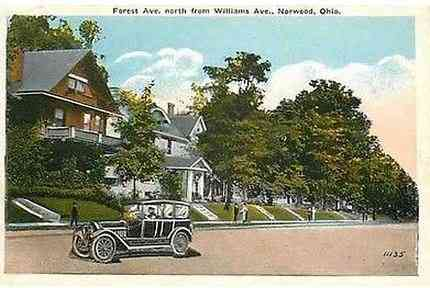 Norwood, Ohio, USA - Forest Ave., north from Williams Ave., Norwood, Ohio.