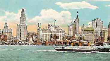 Manhattan, New York, USA (New York City) (New Amsterdam) - Skyline view of New York City