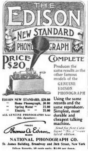 Manhattan, New York, USA (New York City) (New Amsterdam) - The Edison New Standard Phonograph