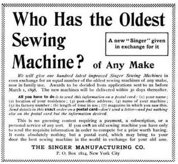 Manhattan, New York, USA (New York City) (New Amsterdam) - Who has the Oldest Sewing Machine?