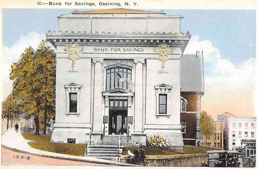 Ossining, New York, USA - Bank for Savings