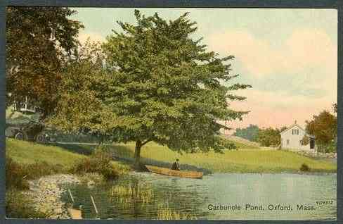 Oxford, Massachusetts, USA - Carbuncle Pond, Oxford, Mass.