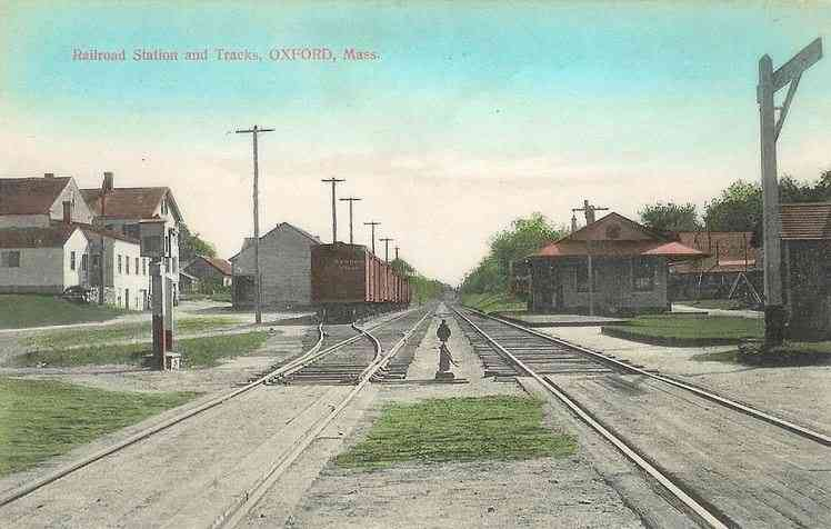 Oxford, Massachusetts, USA - Railroad Station and Tracks, Oxford, Mass.