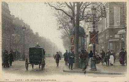 Paris, France - Paris - Les Grands Boulevards (1900)
