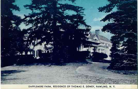 Pawling, New York, USA - Dapplemere Farm. Residence of Thomas E. Dewey, Pawling, N. Y.