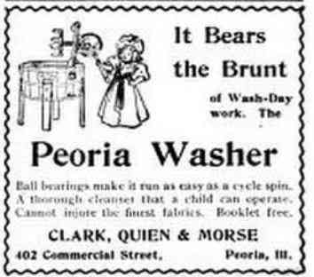 Peoria, Illinois, USA - It Bears the Brunt of Wash-Day work