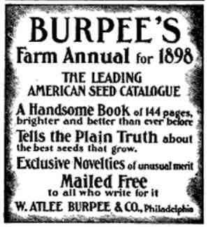 Philadelphia, Pennsylvania, USA - Burpee Farm Annual for 1898