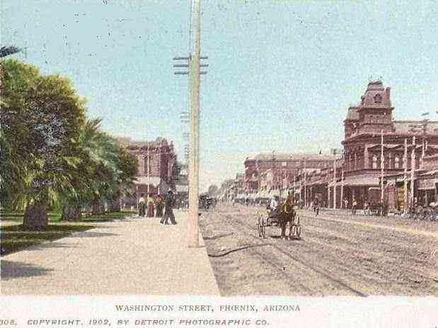 Phoenix, Arizona, USA - Washington Street, Phoenix, Arizona (1902)