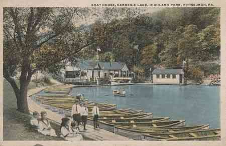 Pittsburgh, Pennsylvania, USA - Boat House, Carnegie Lake, Highland Park, Pittsburgh, Pa.