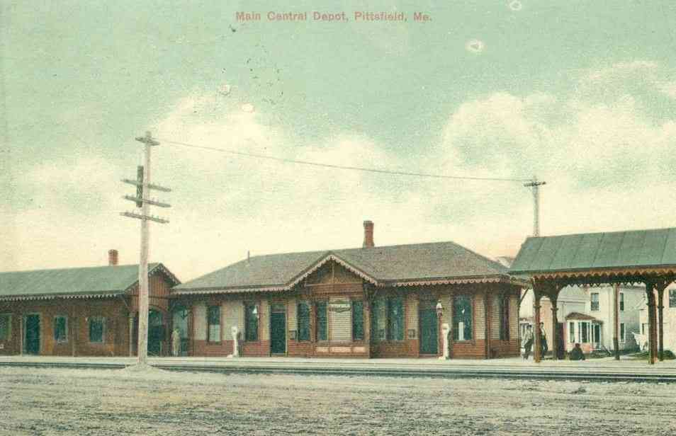 Pittsfield, Maine, USA - Main Central Depot, Pittsfield, Me.