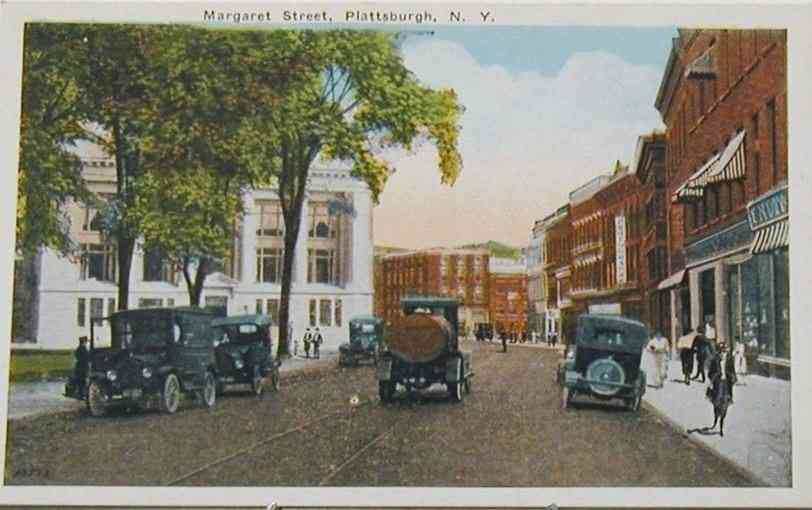 Plattsburgh, New York, USA - Margaret Street, Plattsburgh, N.Y.