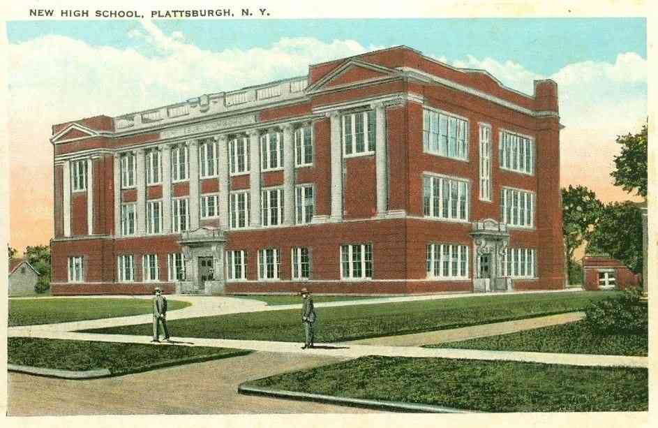 Plattsburgh, New York, USA - New High School, Plattsburgh, N.Y.