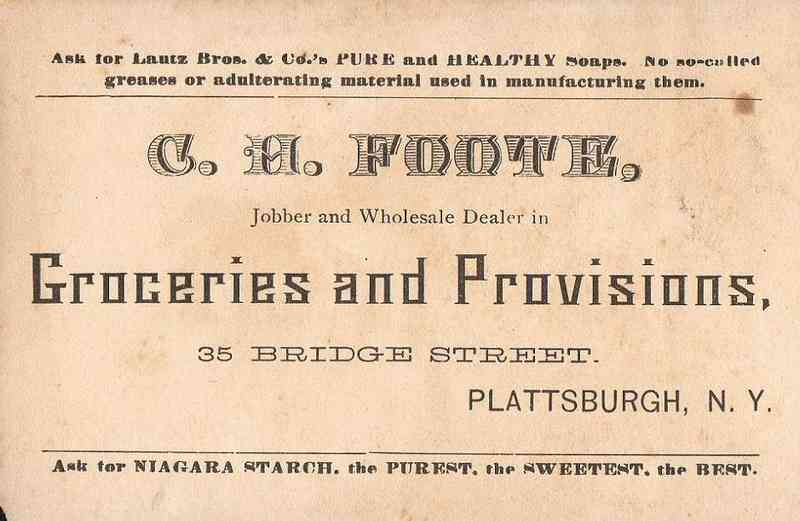 Plattsburgh, New York, USA - C. H. Foote,