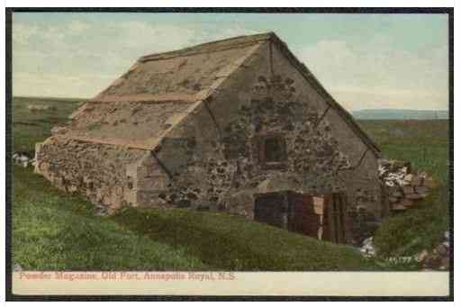Annapolis Royal, Annapolis, Nova Scotia, Canada / Port Royal, Acadia - Powder Magazine, Old Fort, Annapolis Royal, N.S.