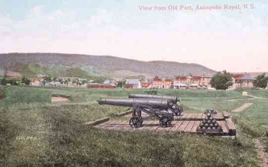 Annapolis Royal, Annapolis, Nova Scotia, Canada / Port Royal, Acadia - View from Old Fort, Annapolis Royal, N.S.