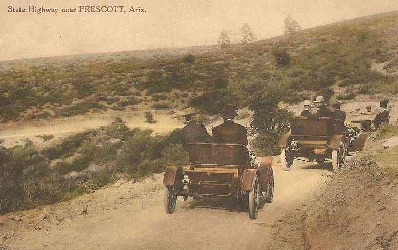 Prescott, Arizona, USA - State Highway near Prescott, Ariz. (1934)