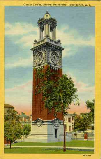 Providence, Rhode Island, USA - Carrie Tower, Brown University, Providence, R. I.
