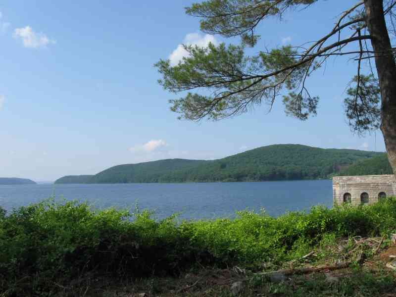 She was kicked out of her grave, which was kicked out of the cemetery... - View of Quabbin Reservoir from Winsor Dam