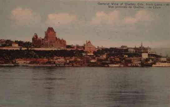 Québec, Québec, Canada (Quebec City) - General View of Quebec City from Levis