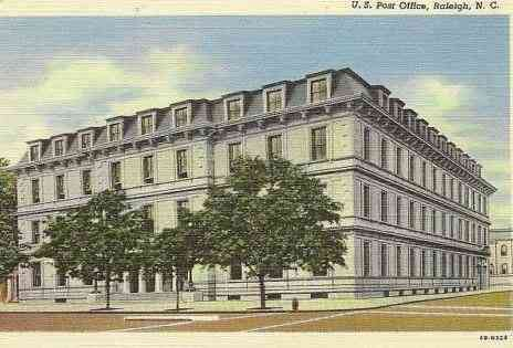 Raleigh, North Carolina, USA - U.S. Post Office, Raleigh, N.C.