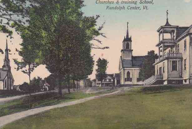 Randolph, Vermont, USA - Churches & training School, Randolph Center, Vt.
