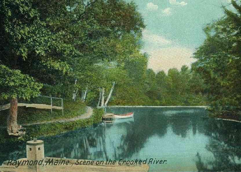 Raymond, Maine, USA - Scene on the Crooked River