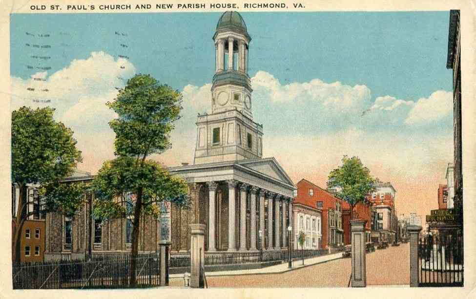 Richmond, Virginia, USA - Old St. Paul's Church and New Parish House, Richmond, Va.