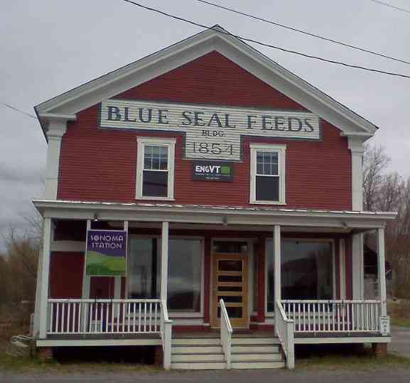 Richmond, Vermont, USA - Blue Seal Feeds Bldg. 1854