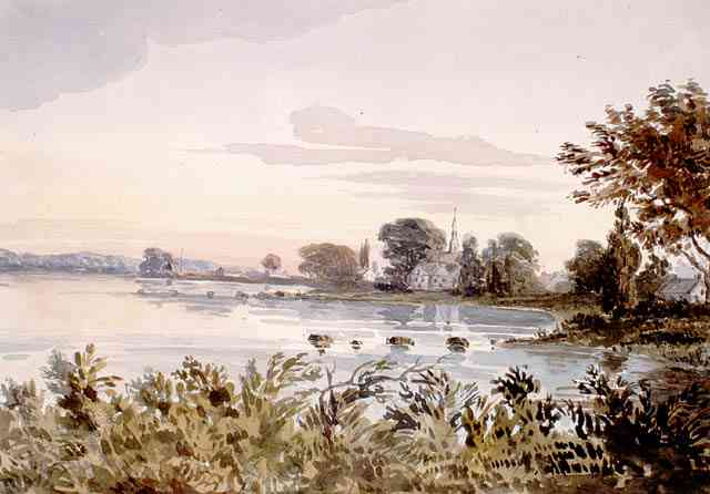 Rivière-des-Prairies, Montréal, Québec, Canada (Saint-Joseph-de-la-Rivière-des-Prairies) - Rivière-des-Prairies near Montreal, ( Quebec. ) (abt. 1838)