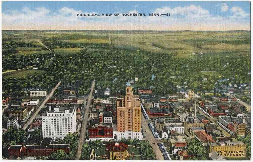 Rochester, Minnesota, USA - Bird's-Eye View of Rochester, Minn.