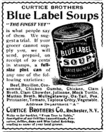 Rochester, New York, USA - Curtice Brothers Blue Label Soups