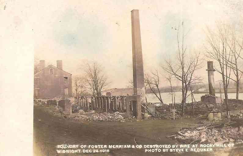 Rocky Hill, Connecticut, USA - Foundry of Foster Merriam & Co. Destroyed by fire at Rocky Hill, Ct.