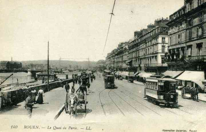 Rouen, France - ROUEN. - Le Quai de Paris (1917)
