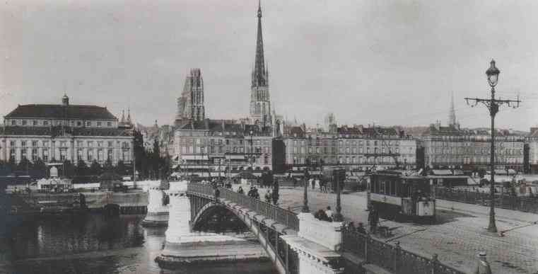 Rouen, France - Boieldieu Bridge (1950)