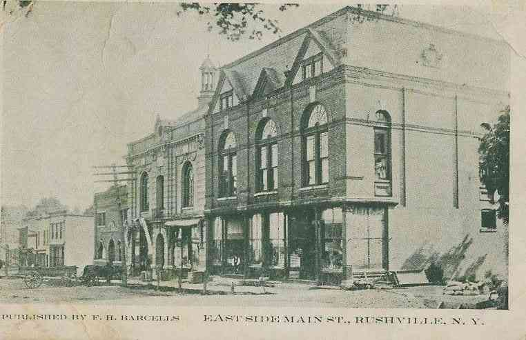 Potter, New York, USA (Rushville) (Yatesville)  - East Side Main St., Rushville, N.Y.