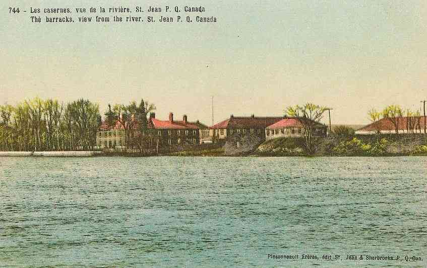 Saint-Jean-de-l'Île-d'Orléans, Québec, Canada  - The barracks, view from the river, St. Jean, P. Q., Canada