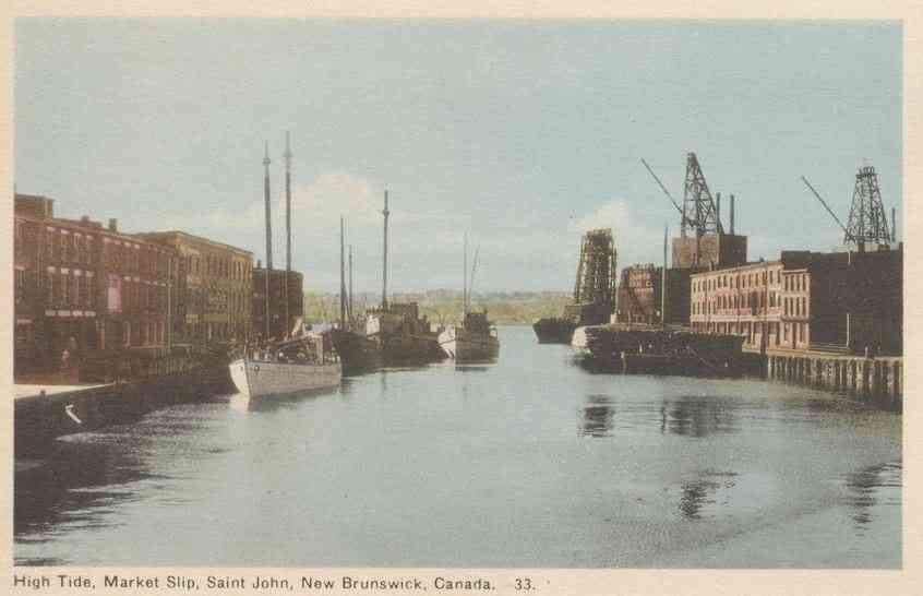 Saint John, New Brunswick, Canada - High Tide, Market Slip, Saint John, New Brunswick, Canada