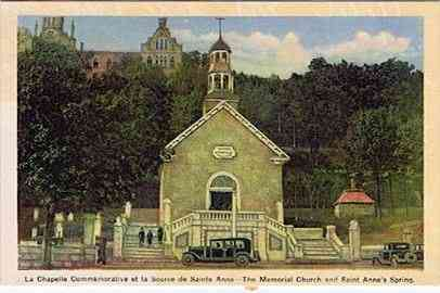 Sainte-Anne-de-Beaupré, Québec, Canada (Beaupre) - The Memorial Church and Saint Anne's Spring