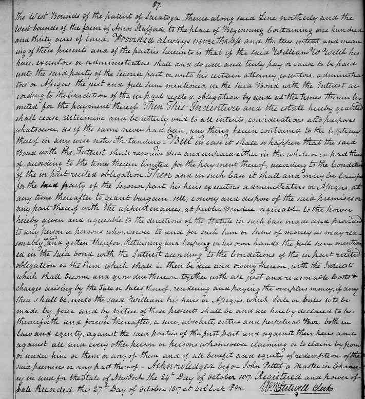Cummings (Benjamin) Salisbury - 1817 Mortgage continued