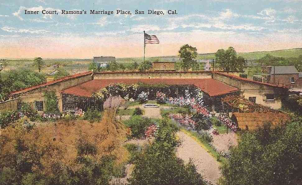 San Diego, California, USA - Inner Court, Ramona's Marriage Place, San Diego, Cal.