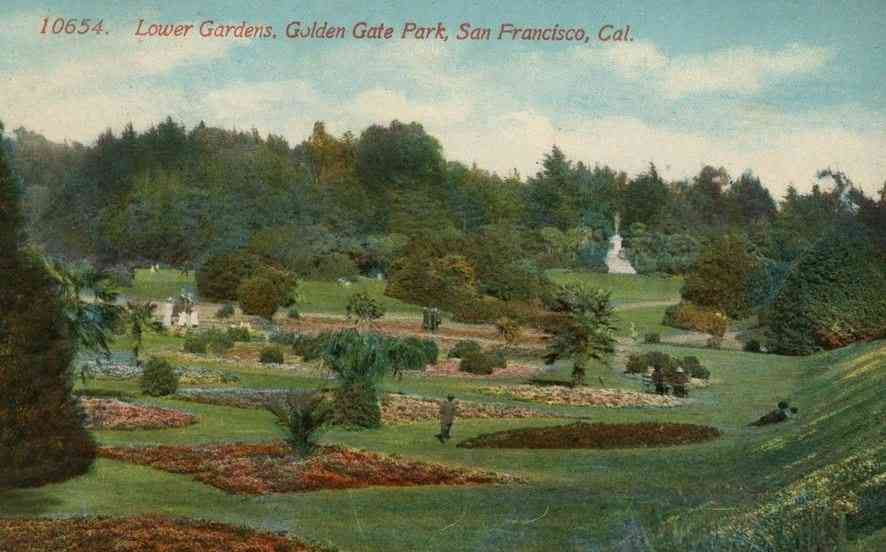 San Francisco, California, USA - Lower Gardens, Golden Gate State Park, San Francisco, Cal.