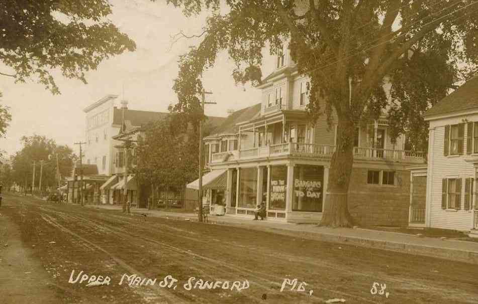 Sanford, Maine, USA (Springvale) - Upper Main St.