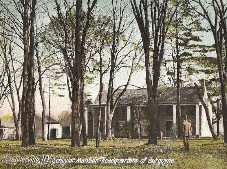 Saratoga, New York, USA - Schuylerville, N.Y., Schuyler Mansion - Headquarters of Burgoyne.