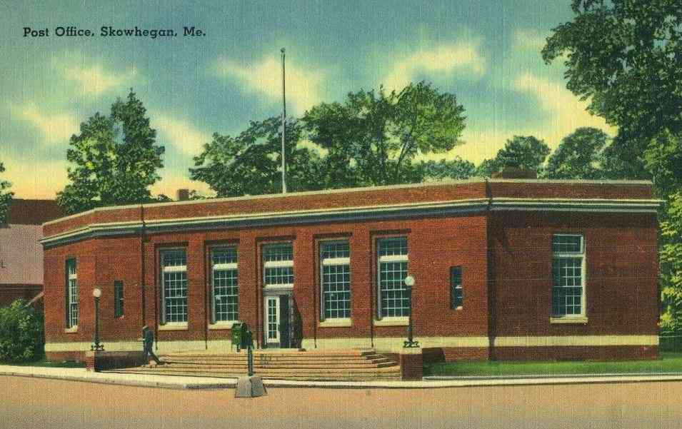 Skowhegan, Maine, USA - Post Office
