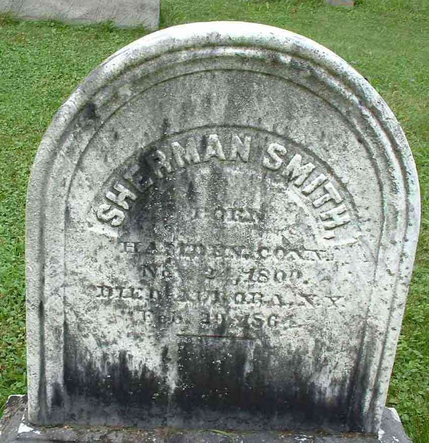 Sherman Smith - Grave of Sherman Smith, Oak Glen Cemetery, Aurora, NY