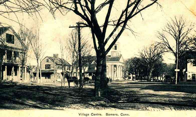 Somers, Connecticut, USA - Village Centre. Somers, Conn.