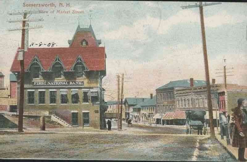 Somersworth, New Hampshire, USA - View of Market Street