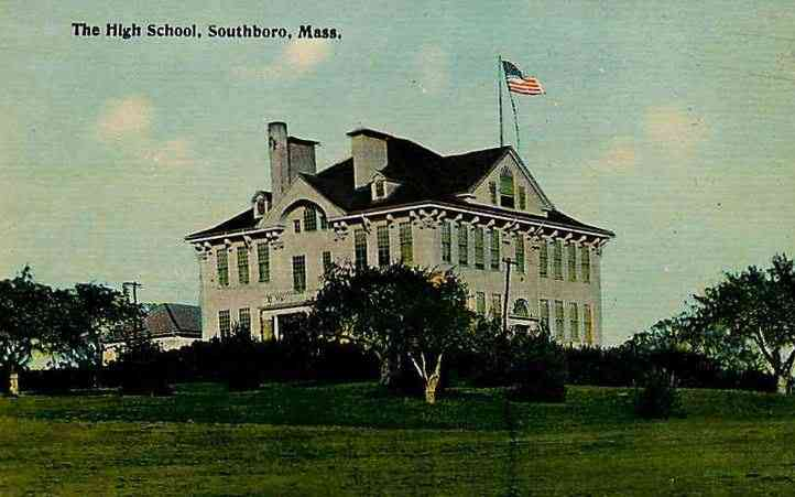 Southborough, Massachusetts, USA  - The High School, Southboro, Mass.